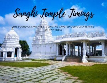 Sanghi Temple Timings
